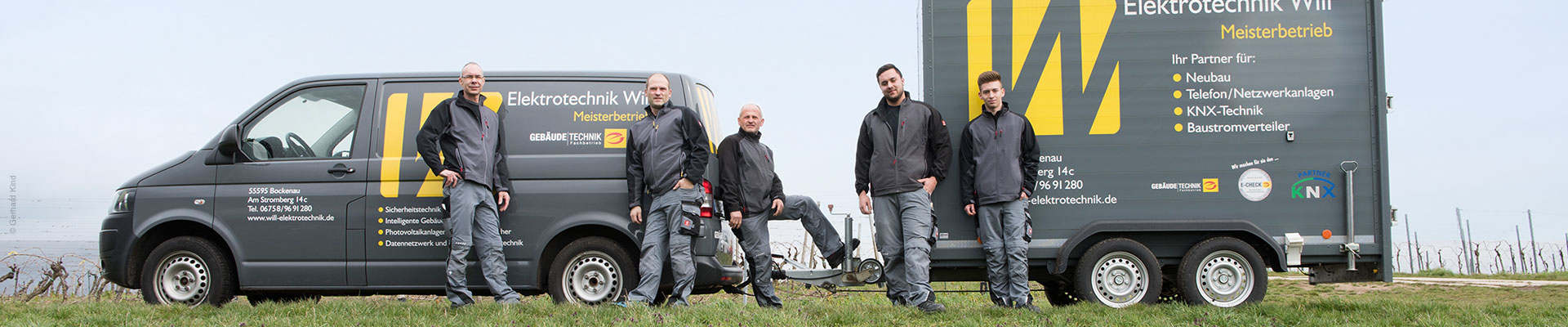 Mitarbeiter und Fahrzeug Elektrotechnik Will